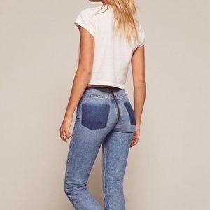 Reformation Zipper Jeans Petite
